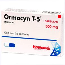 Ormocyn T 5 Amoxicilina Antibacteriano Capsulas Hormona Rx