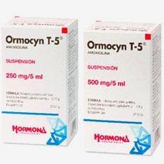 Ormocyn T 5 Amoxicilina Antibacteriano Suspension Hormona Rx