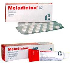 Meladinina Metoxaleno Vitiligo Pomada Chinoin Rx
